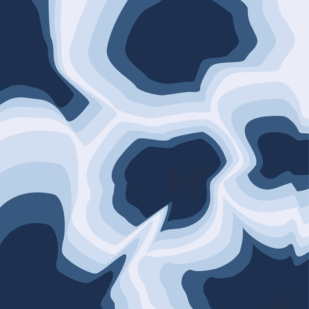3D abstract background with blue paper cut shapes.