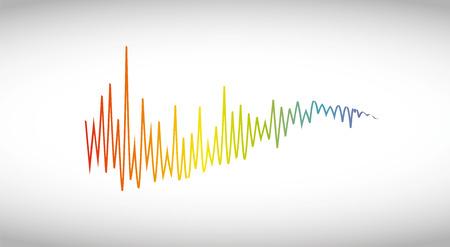 Music wave logo. Color pulse audio player
