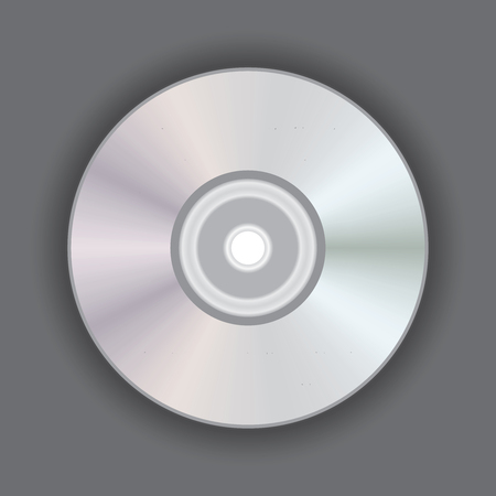Digital optical disc data storage. Blue-ray, DVD or CD disc. Video, music, computer software. Poster of disk player record. Stock Photo