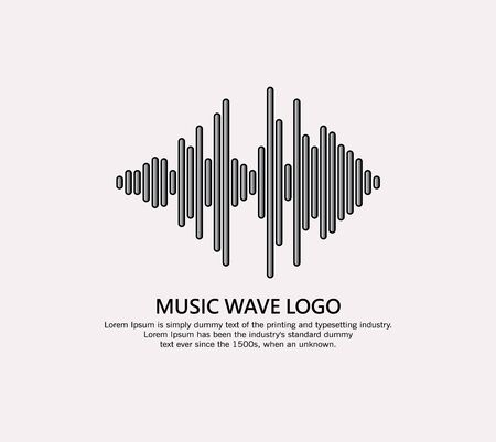 Music wave logo. Audio equalizer element on a white background.