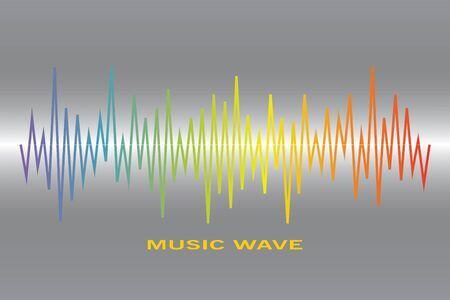 Pulse music player logo. colorful equalizer element