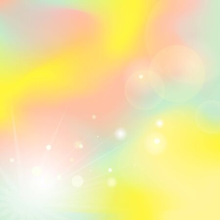 Color mesh background. Defocused rays lights bokeh abstract background. Colorful smooth banner template. Easy editable soft colored illustration
