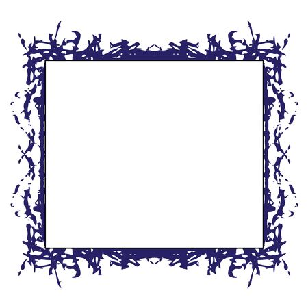 Grunge frame. Grunge background. Abstract paint template. Graphic pattern on white Reklamní fotografie