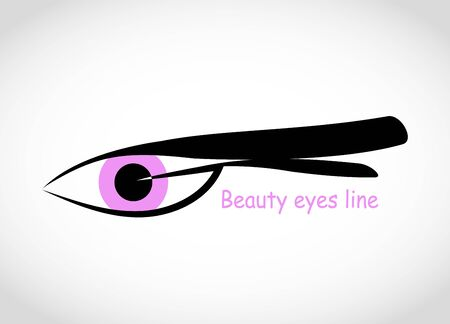 Logo of eye vector illustration. Simple design icon template of fashion and beauty concept. Eyelash extension logo in a modern style
