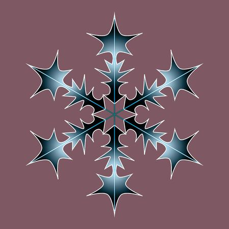 Frost flat isolated silhouette symbol. Winter black-blue isolate icon. Snowflake illustration Stok Fotoğraf