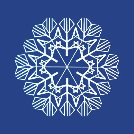 White winter, snowflakes. Snowflake icon illustration Stok Fotoğraf