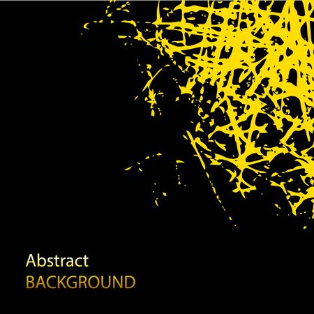 Abstract vector grunge background. Gold scratches on black. Texture and elements for design. EPS10 vector illustration