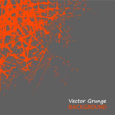 Abstract vector grunge orange scratches on gray background. Texture and elements for design. EPS10 illustration
