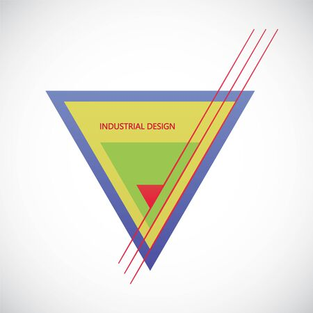 Vector triangles logo design element. Business abstract icon. As sign, symbol, logo, web, label, emblem.