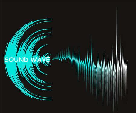 Digital music background with dynamic waves. Poster neon sound wave design. Vector waveform technology.