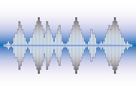 Music wave neon background. Pulse music player. Colorful equalizer element. Sound Wave   Illustration.