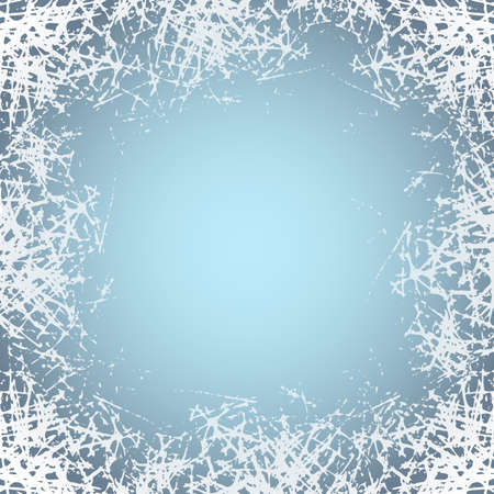 White frosted texture in winter window. Frost pattern background. Jpeg ice crystals illustration 免版税图像