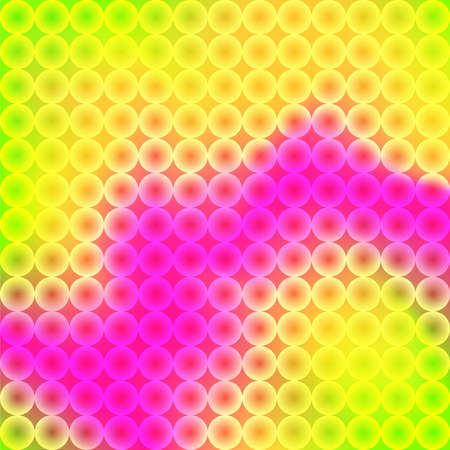 Modern 3D multicolor background with dynamic wavy and circles mosaic. Jpeg illustration
