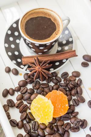 copra: Turkish coffee and Turkish Delight Stock Photo