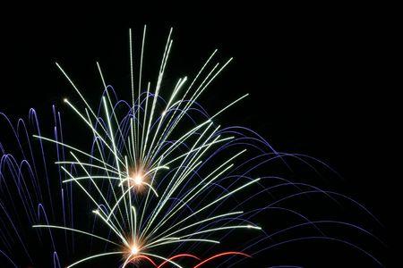 jahreswechsel: fireworks 1 Stock Photo