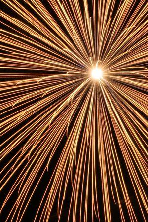 jahreswechsel: fireworks gold Stock Photo