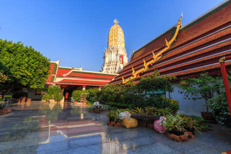 referred: led Reliquary), also colloquially referred to as Wat Yai, is a Buddhist temple (wat) in Phitsanulok Province, Thailand. Stock Photo