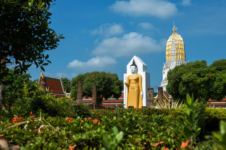 Buddha statue at Wat Phra Si Rattana Mahathat also colloquially referred to as Wat Yai is a Buddhist temple (wat) It is a major tourist attraction Phitsanulok,Thailand