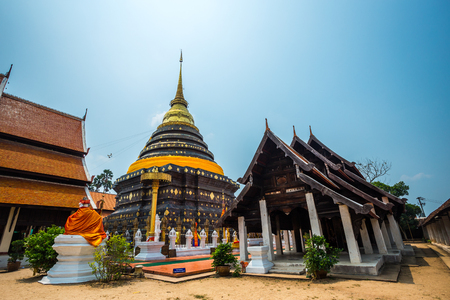 Wat Phra That Lampang Luang is a Lanna-style Buddhist temple in Lampang in Lampang Province, Thailand Stock Photo