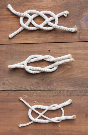 Examples of different types of sailing knots