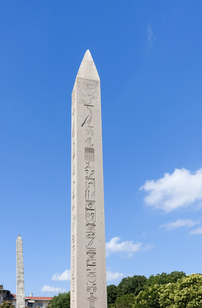 obelisk stone: Obelisk of Theodosius - originally built at the Temple of Karnak, the Obelisk of Theodosius traveled all over the ancient world before ending up in Istanbul, Turkey.