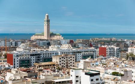 カサブランカの市内を一望します。