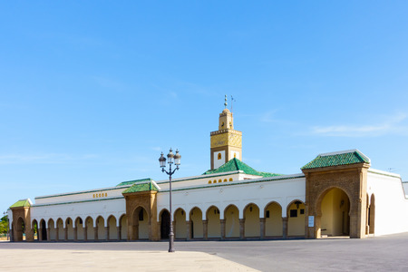 Ahl Fas Mosque, the royal palace mosque in Rabat, Morocco. Editorial