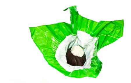 bonbon chocolat: bonbons au chocolat dans un emballage en aluminium