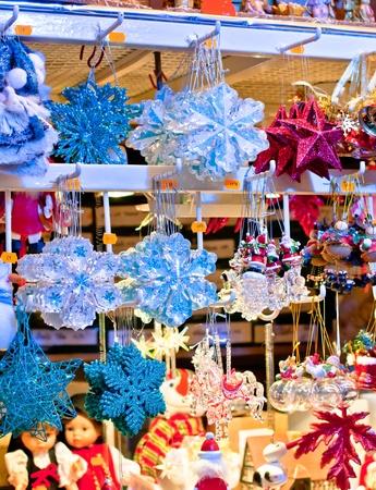 Traditional christmas shopping, christmas market in Strasbourg-France