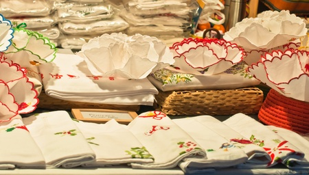 Traditional christmas shopping  Stock fotó