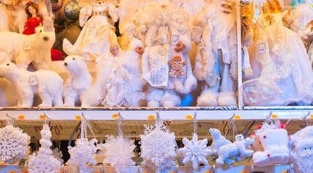 Traditional christmas shopping  Stock Photo