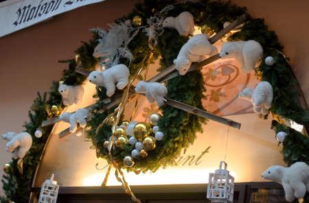Christmas Lights on a House  Stock Photo