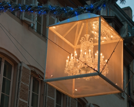 Central Strasbourg street Christmas decorations