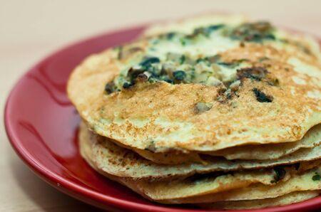 Pancakes details  Stock Photo