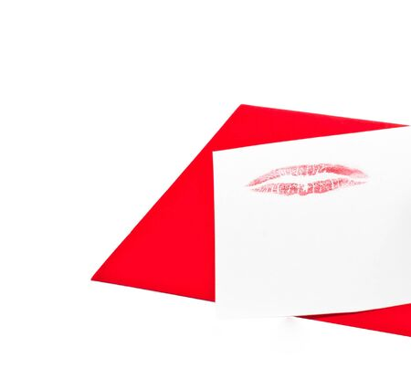 Valentine s card with a kiss