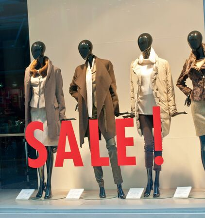 Window display with text  Sale
