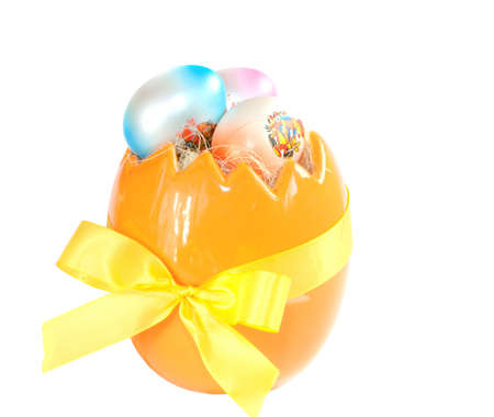 decorated easter egg isolated on white