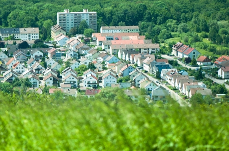 View of Untergrombach , Germany from the Michaelsberg Mountain Stock Photo - 20327710