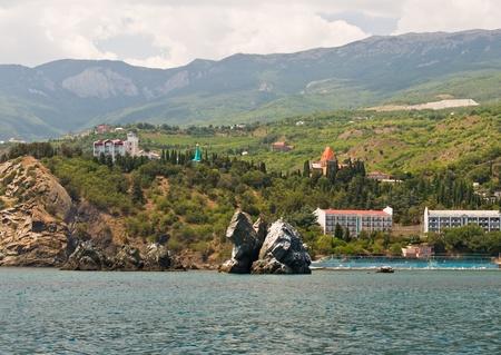 Two old rocks in the Black sea, Ukraine -Crimea