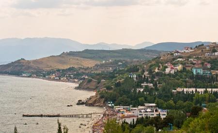 Sea landscape in Crimea  Ukraine-Solnyachnohirs ke