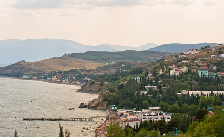 Sea landscape in Crimea  Ukraine-Solnyachnohirs ke