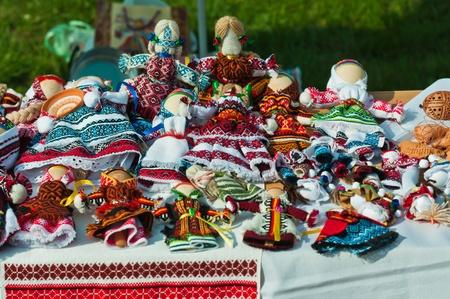 handmade doll Standard-Bild