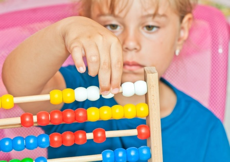 Learning arithmetic  Stock Photo