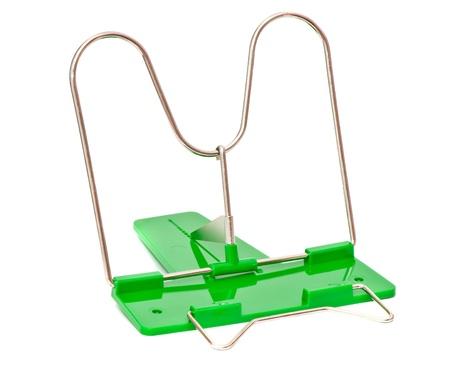 Book holder, isolated on white  Standard-Bild