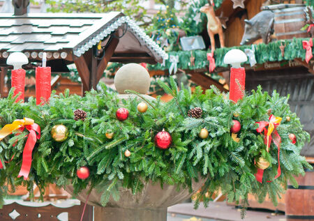 Advent wreath in the traditional Christmas market