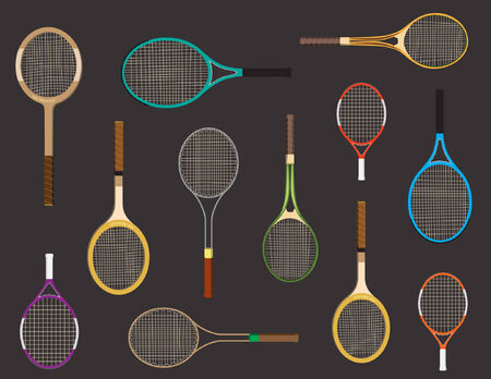 Tennis racket pattern 矢量图像