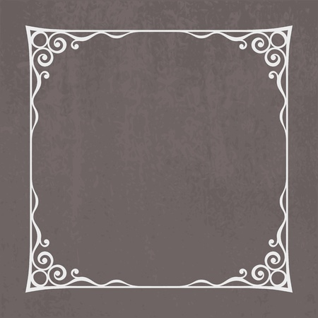 Decorative vintage frame silhouette with separated corners  You can easily change color and aspect ratio of frame  The file is made with no transparencies and gradients