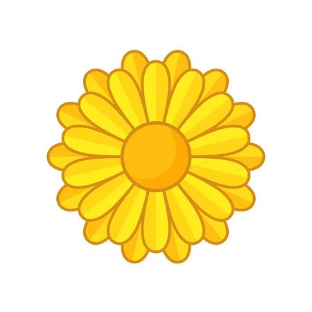 golden daisy: Ejemplo simple de flor amarilla con contorno. Floraci�n independiente.
