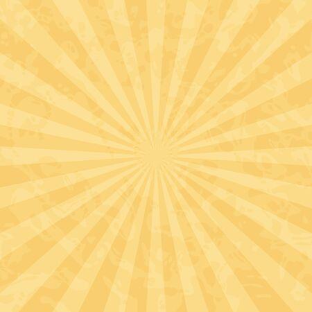 黄土色の色合いの光とビンテージ レトロな背景。  イラスト・ベクター素材