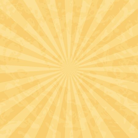 Vintage retro background with rays in shades of ochre.